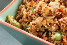 Cooking with Quinoa / Recipes that feature quinoa.  A healthy grain packed with protein