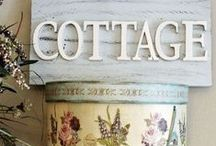 COTTAGE LOVE / Shabby chic, French country, farmhouse...cosy and welcoming! / by •❈•Sue Finnerty•❈•