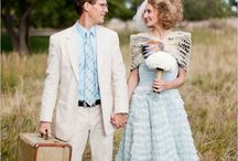 1950s wedding inspiration / http://cwtchthebride.com/tips-for-planing-an-authentic-vintage-wedding-1950s/