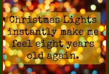 Christmas (lights) / ✨Let's face it - Christmas lights make everything merry & bright.  I'm one of those people who would totally leave them up all year long. Haha! ✨ / by Melinda McCarty