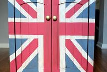 Union Jack-ed / The Union Jack as decoration or inspiration for diy projects.