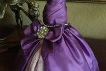 Art Dress Inspiration / Miniature dresses, altered, mixed media, papier maché.