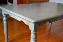 Painted Tables / Painted and colorful dining tables