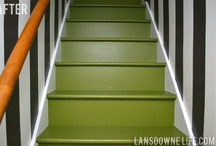 Painted staircases / Colorful collection of painted stairwells / steps / staircases