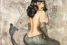 Mermaids / Sirens  / Dedicated board to all mermaids and sirens / by Marsie Cook