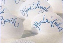 The Write Stuff / Wedding related ideas that are handwritten.