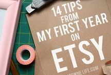 Etsy Business Tips / Tips for starting and running a handmade Etsy business