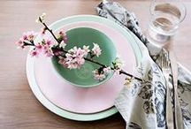 Pink and mint / Spring colour combination