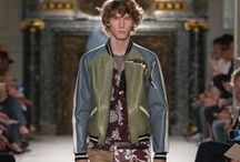 Valentino Men's S/S 2016 Fashion Show / The Men's Spring/Summer 2016 collection designed by Maria Grazia Chiuri and Pierpaolo Piccioli embarked on a journey in style adopting other cultures and worlds. Five-pocket jeans, Hawaiian shirts, souvenir jackets with textures and decorations, become pages of a thrilling diary. While denim - the textile of choice for contemporary storytelling - was given a couture interpretation through the unique savoir-faire of Valentino's ateliers. www.valentino.com