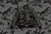 Camunoir | Men's Spring/Summer 2016 Collection / Stay sharp with army printed camouflage in refined noir shades. www.valentino.com