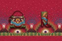 Valentino Enchanted Wonderland Accessories Collection / With its rich color palette and delicate details the new Enchanted Wonderland Accessories collection is irresistible. Unique prints made of volcanoes, stars, rays of light and floral elements are applied on bags and shoes through the use of many different exquisite techniques. www.valentino.com