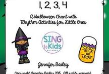 Music Education: Fall & Halloween Activities / Fun activities and lesson for the elementary music classroom for Fall & Halloween!