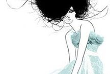 Fashion Illustration / A pin board of inspirational fashion illustrations