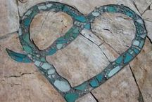 hearts, peace, love