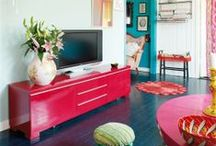 Colorful Home / Colorful homes, interiors, decoration and gardens