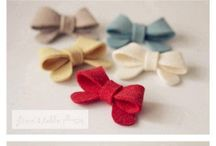 hair clips, flowers and bows