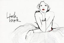 Black & White Fashion Illustrations / Black & White fashion illustrations, maybe with a little color...