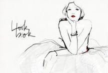 Black & White Fashion Illustrations / Black & White fashion illustrations, maybe with a little color...