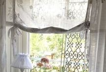 curtains and roman shades