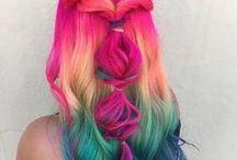 Colourfull hair here! / Taste the rainbow!
