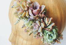 Wedding crown of flowers