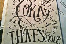 ideas: cool lettering / pretty pretty!