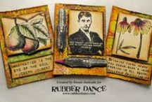 Rubber Dance Tags & ATC's / Cool tags made with our stamps, which you can find at rubberdance.com