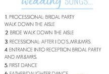 Wedding Music Ideas / The perfect wedding playlists to make your wedding day unforgettable! From the wedding morning playlist to the last dance songs that will have your guests begging for one more song.