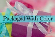 Packaged With Color / Fun ideas to package different items with a splash of color