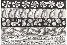 Whimsical aesthetics / Patterns, zendoodles, mandalas, fractal art and optical illusions