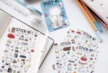STATIONERY / Muitos itens fofos e inspiradores de papelaria. Várias fotos de bullet journal para ajudar e inspirar a criar páginas.