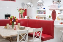Red Kitchens / Ideas for red kitchen makeovers.