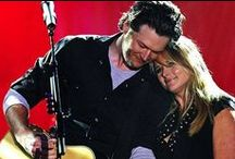"""• мιranda laмвerт & вlaĸe ѕнelтon • / I've loved Miranda Lambert since """"Famous In A Small Town"""" I'm not as crazy for Blake though... But I felt like If I had Miranda I need to have Blake here too. / by Jessica"""
