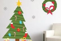 Deck The Walls / Tis the season to be jolly! Give your walls some jolly good decor with this festive wall stickers!