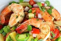 Fish and Seafood / Recipes using fish shrimp, clams crabs, oysters and other seafood in main dishes, salads, appetizers and other ways.