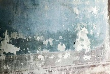 Texture Study №3: Fresco [blue] / aged and textured neutrals paired with distressed, worn subtle blues