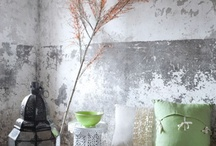 Texture Study №2: Fresco [green] / aged and textured neutrals paired with distressed, worn subtle greens