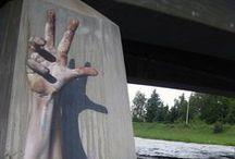 Street Art / Arte callejero repineado de otras personas.