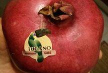 Pegatinas frutas / Las frutas con su mitica pegatina