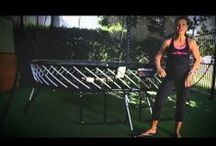 Trampoline Workouts / Creative ways to workout on your Springfree Trampoline! Did you know that 10 minutes of jumping is the same as a 30 minute jog?