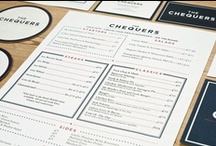 Graphic Design: Menus / Restaurant menus design