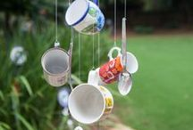 Tea Time Chimes and Household Decorating Ideas / Yard art, wind chimes, and other beautiful household items!