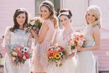 Wedding: Bridesmades and groomsmen / bridesmaid, groomsmen and their beautiful look!