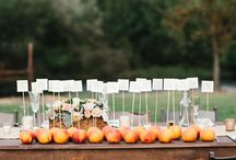 Wedding: Escort card and table seating
