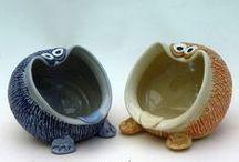 art lesson: animal clay pot