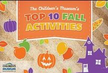 Top 10 Fall Activities / Check out our Top 10 best fall activities to try at home. From spooky science experiments to creepy costume ideas, and autumn activities to keep the fun going throughout the season! / by Children's Museum of Indianapolis