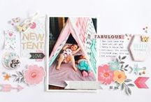 Scrapbook Layouts - Cocoa Vanilla Studio / Check out all the gorgeous scrapbook page layouts from our all star design team!  Visit our blog for daily inspiration using Cocoa Vanilla Studio products! http://cocoavanilla.com.au/blog/