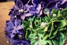 Felt Flower Crafts / What do to with the leftover bouquet flowers for Can's wedding.