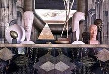 Decor :: Interiors / Vintage modern luxe. Mix it up!