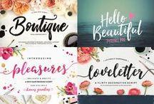 {fonts & typography}